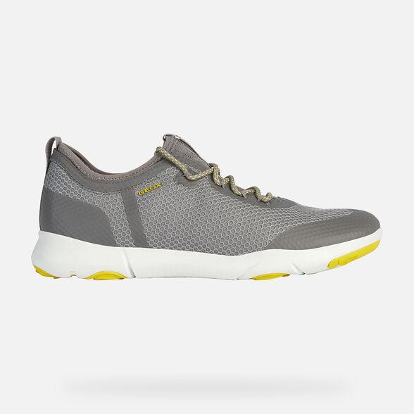 balsa Sí misma lago  Geox NEBULA X Man: Light grey Sneakers | Geox® Nebula