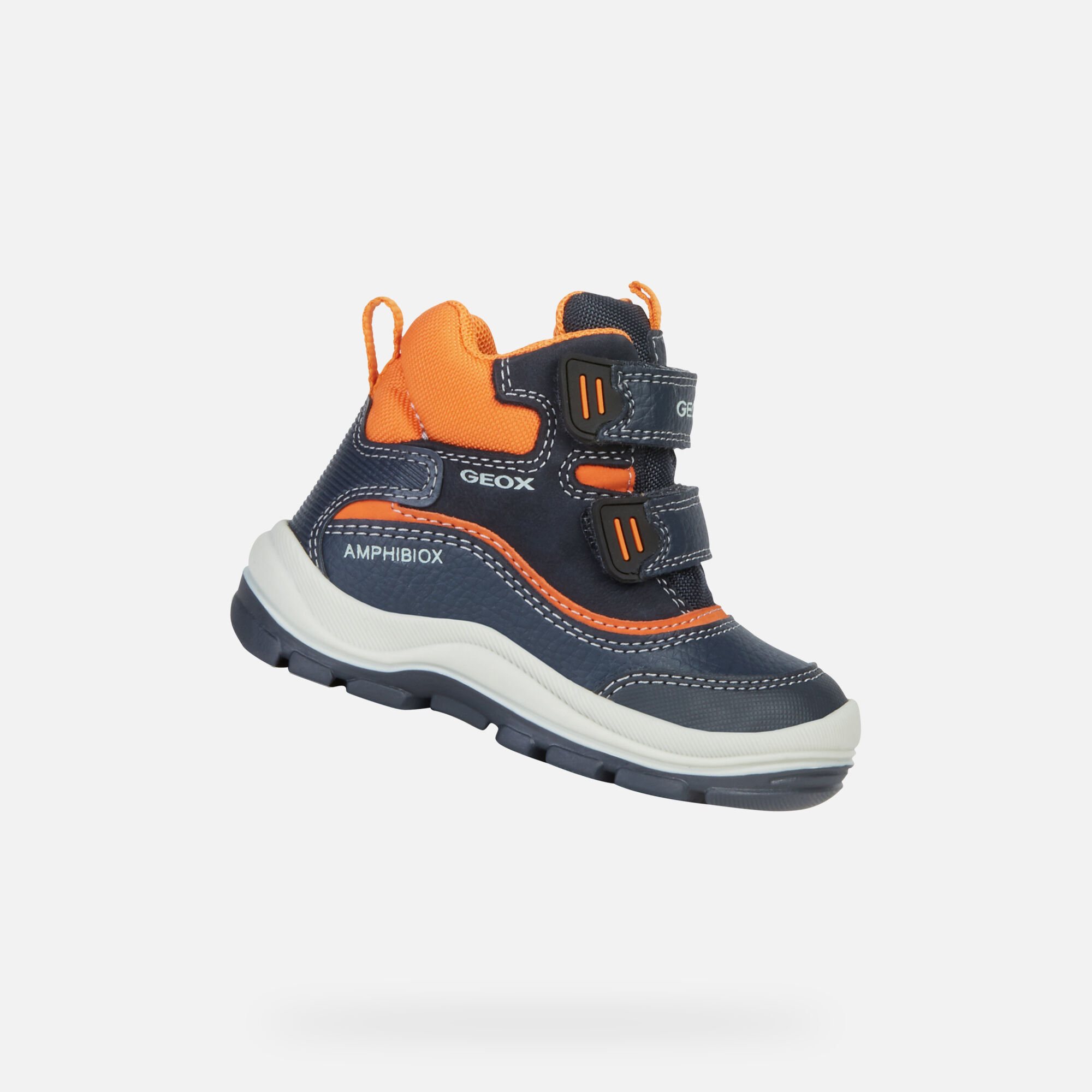 Geox Kids lace up ankle boots Blue
