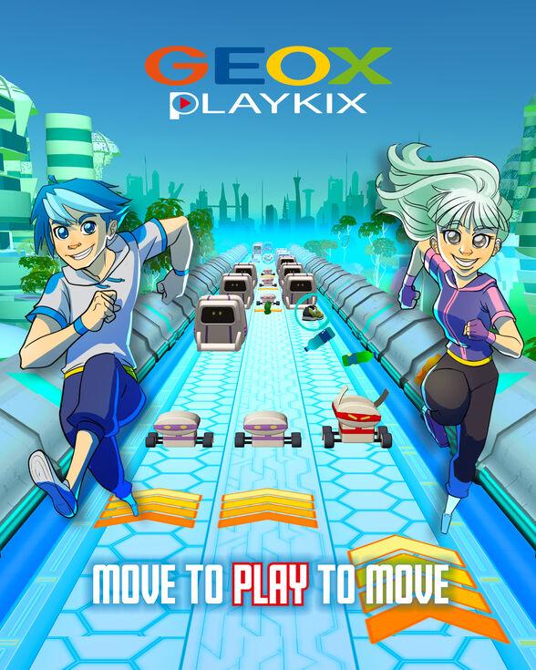 PLAYKIX GIRL GEOX PLAYKIX - VIOLET AND BLACK