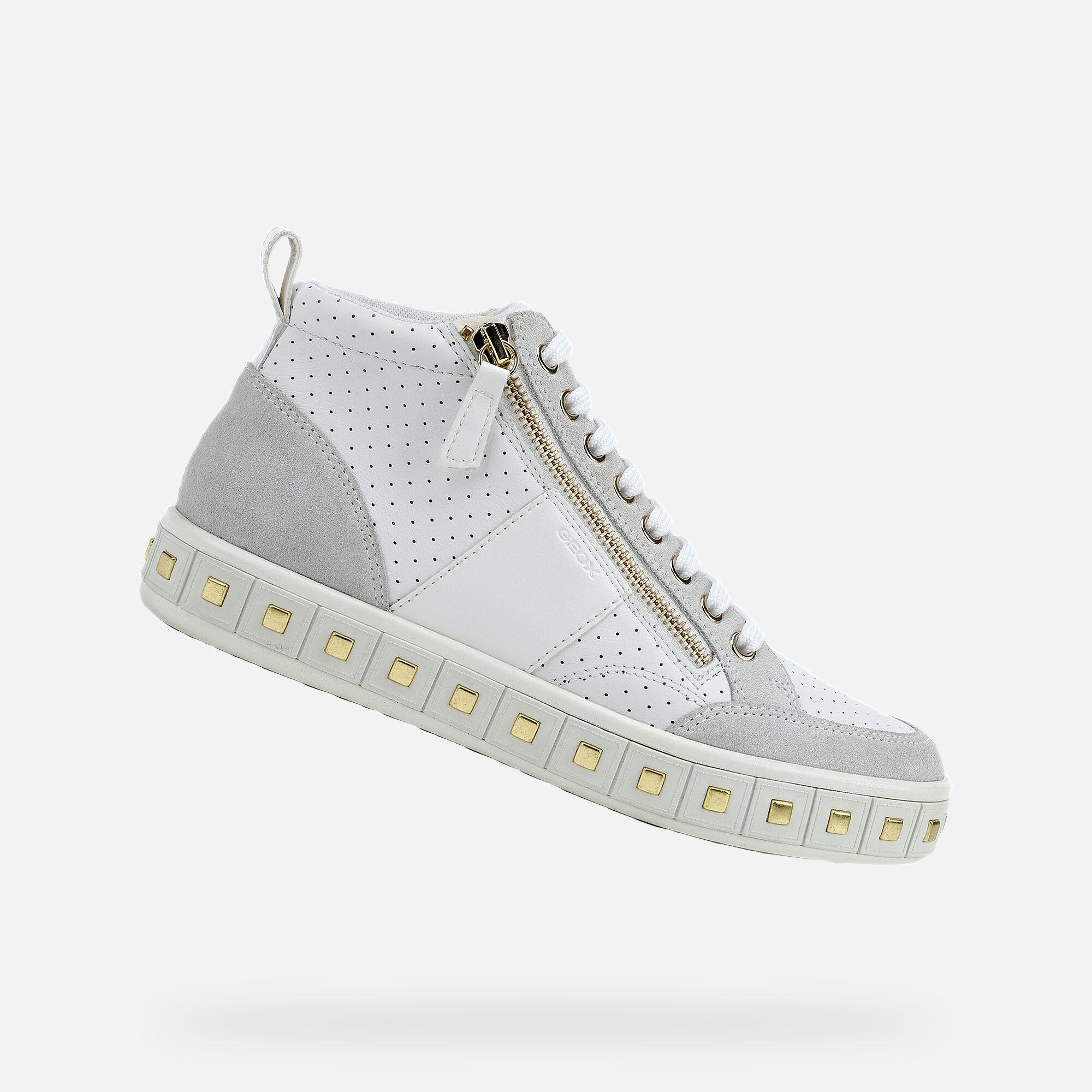 Waterproof White Sneakers Geox Amphibiox | White sneakers