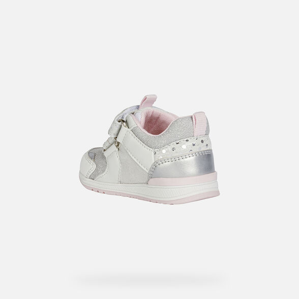 FIRST STEPS BABY GEOX RISHON BABY GIRL - WHITE AND SILVER