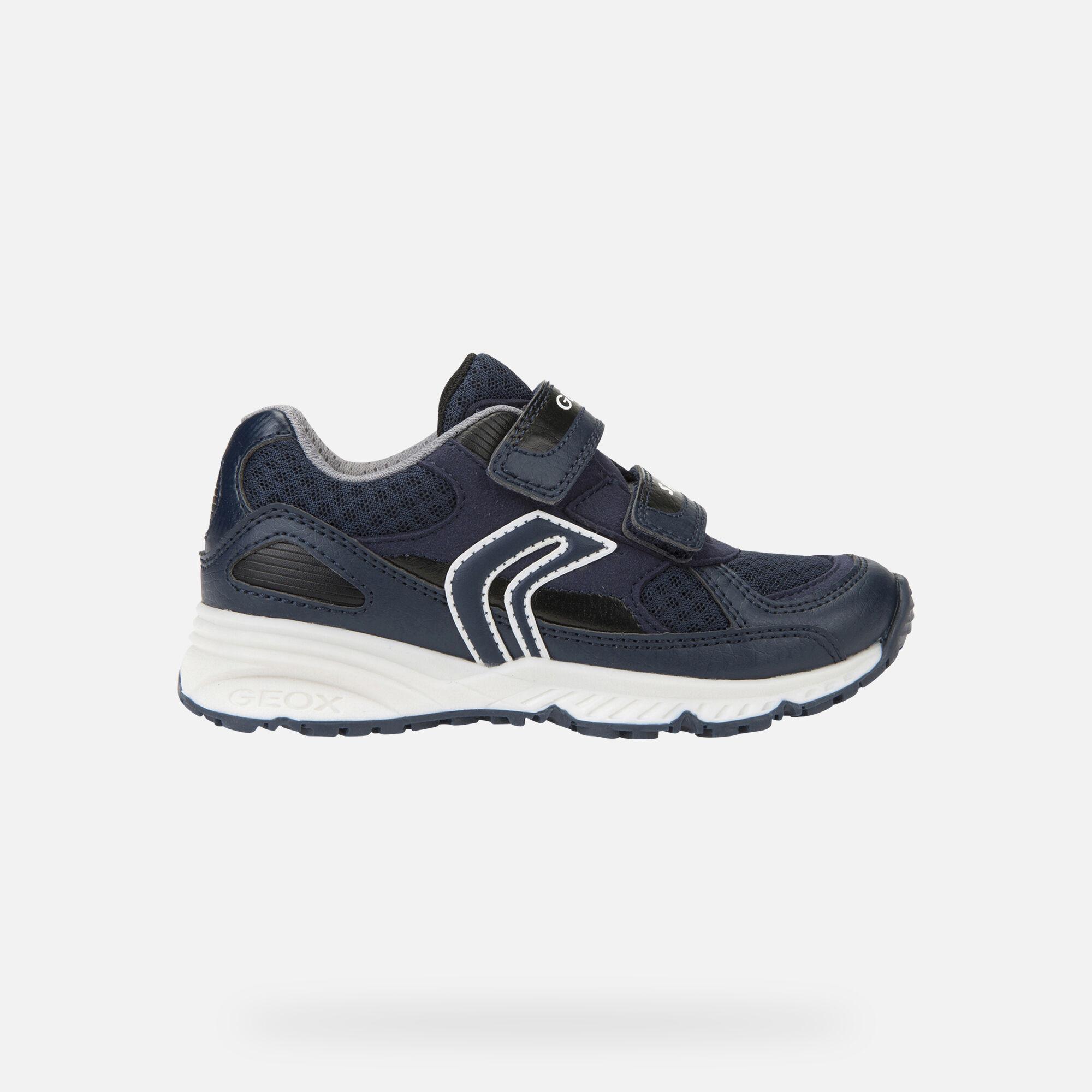 Geox J BERNIE: Blue Navy Junior Boy Sneakers | Geox