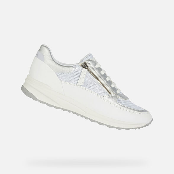 SNEAKERS DONNA GEOX AIRELL DONNA - BIANCO E BIANCO SPORCO