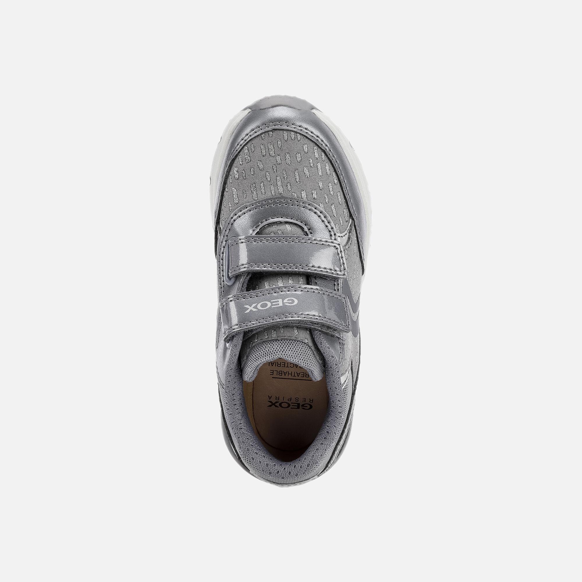 Geox SPACECLUB Junior Girl: Grey Sneakers | Geox FW 1920