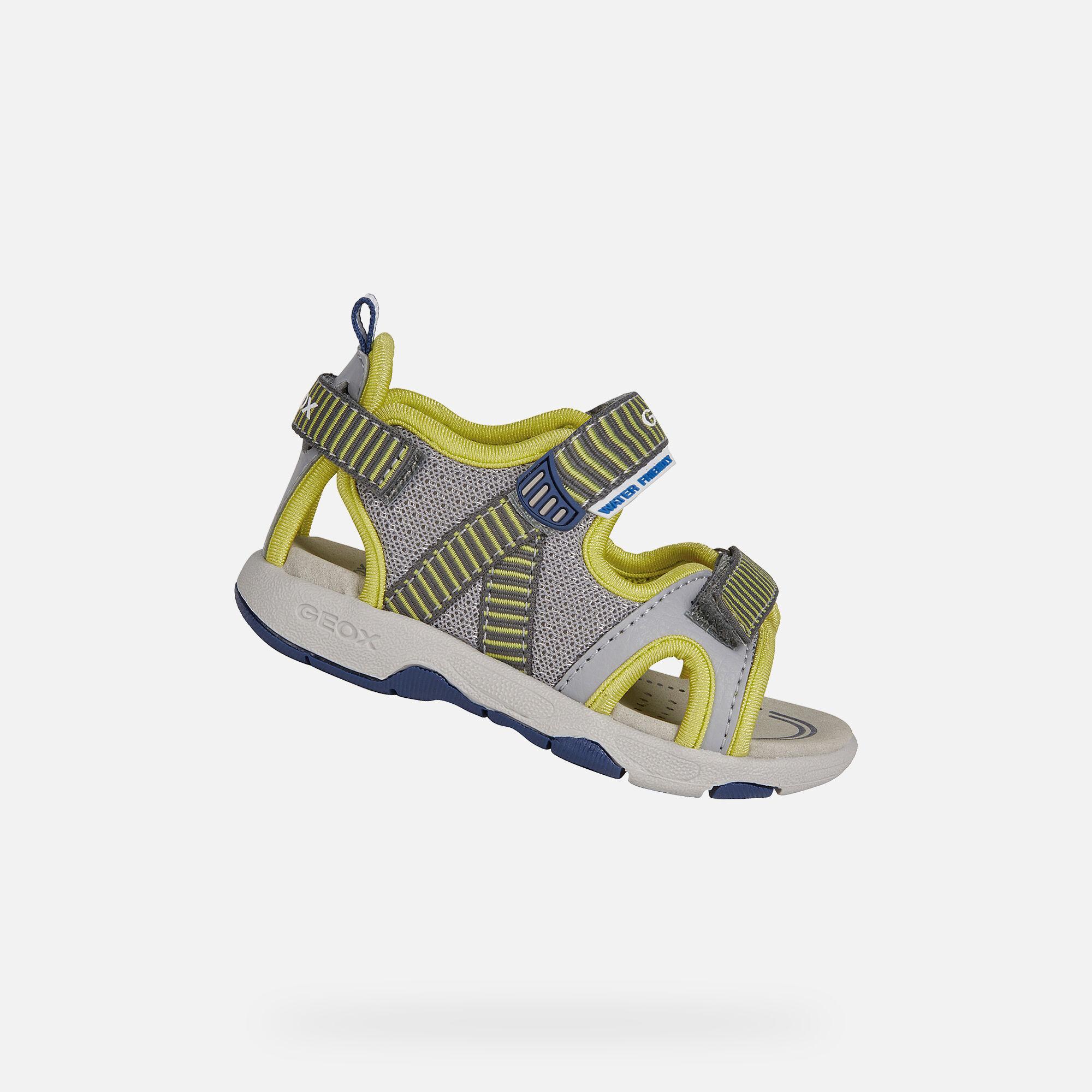 Geox MULTY BABY Boy: Grey Sandals