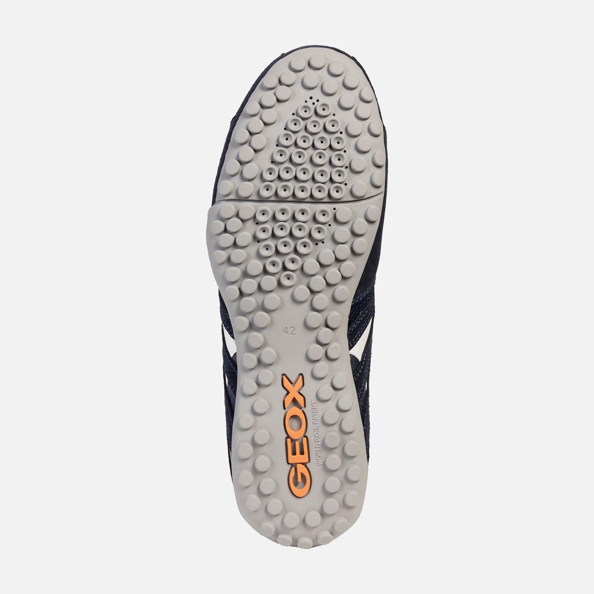 Geox UOMO SNAKE Man: Navy blue Sneakers
