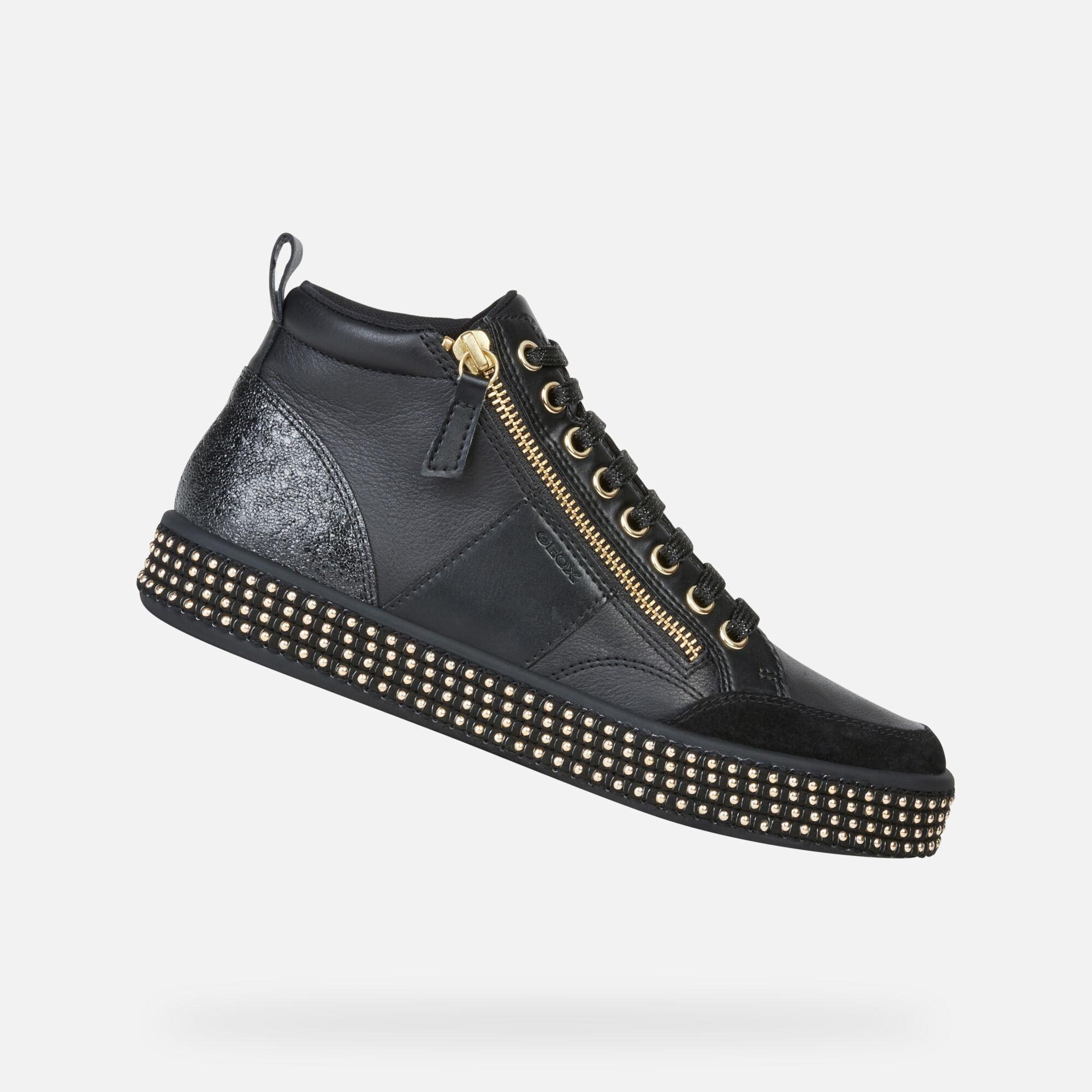 GEOX Sneakers Nero Donna Scarpe Sneakers,geox scarpe autunno