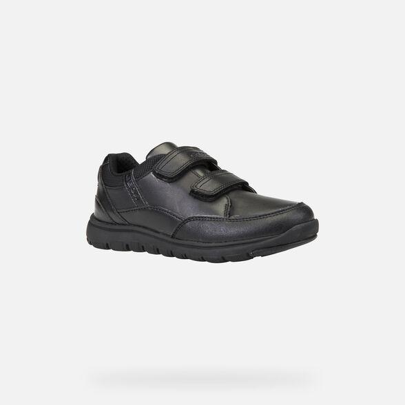 repentinamente Pera chorro  Geox XUNDAY BOY Junior Boy: Black Sneakers | Geox® Uniform