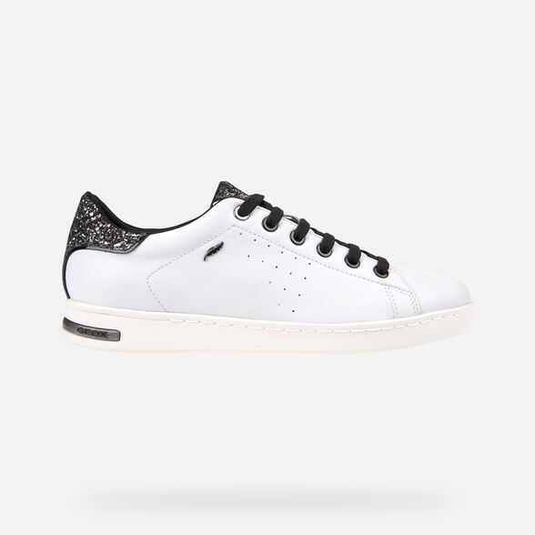 puerta Final Beneficiario  Geox JAYSEN Woman: White Sneakers | Geox® Online Store