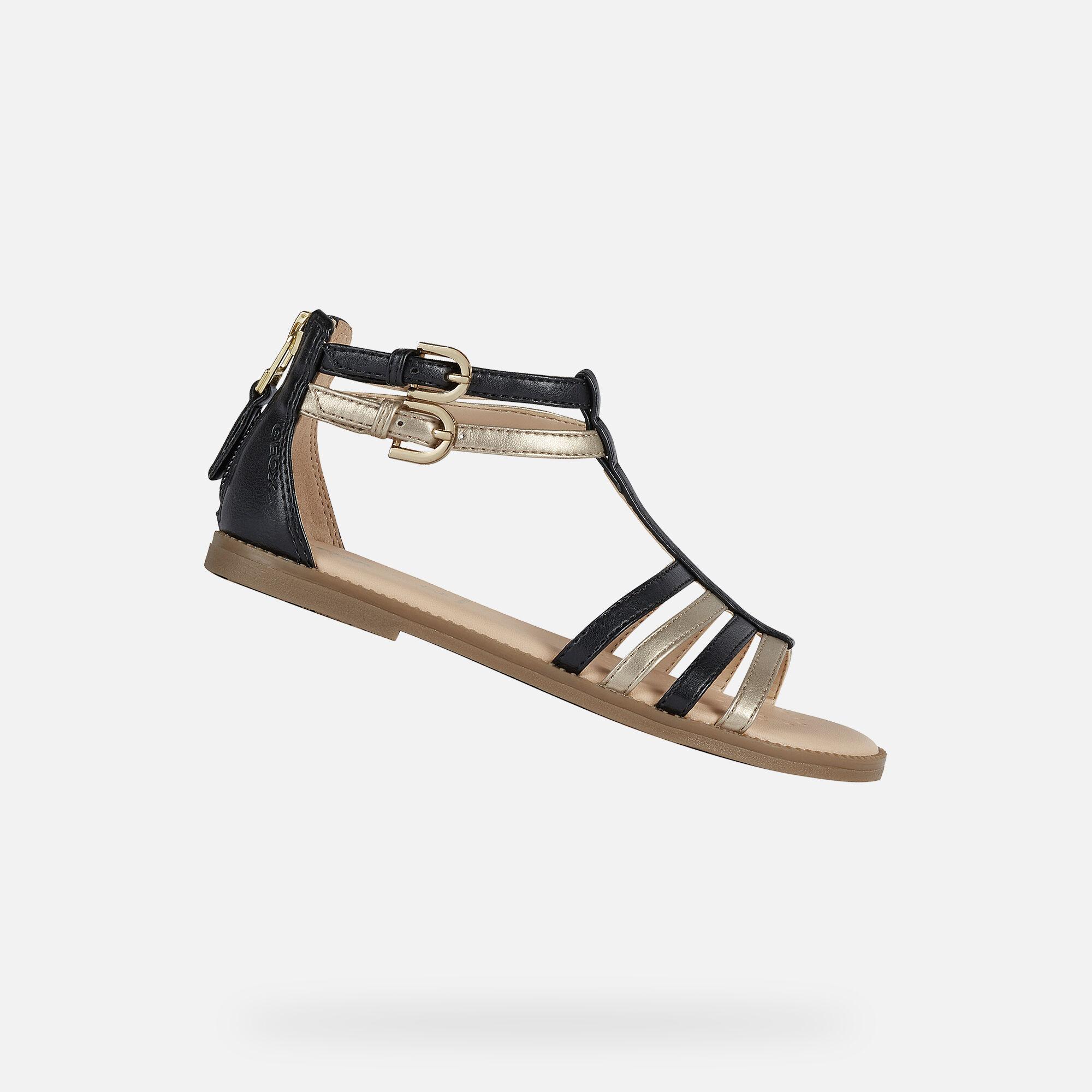 Geox KARLY Girl: Black Sandals | Geox SS20