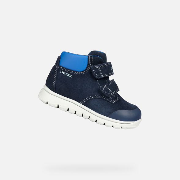 interferencia Yogur ajedrez  Geox XUNDAY Baby Boy: Blue Ankle Boots | Geox ® FW 19/20