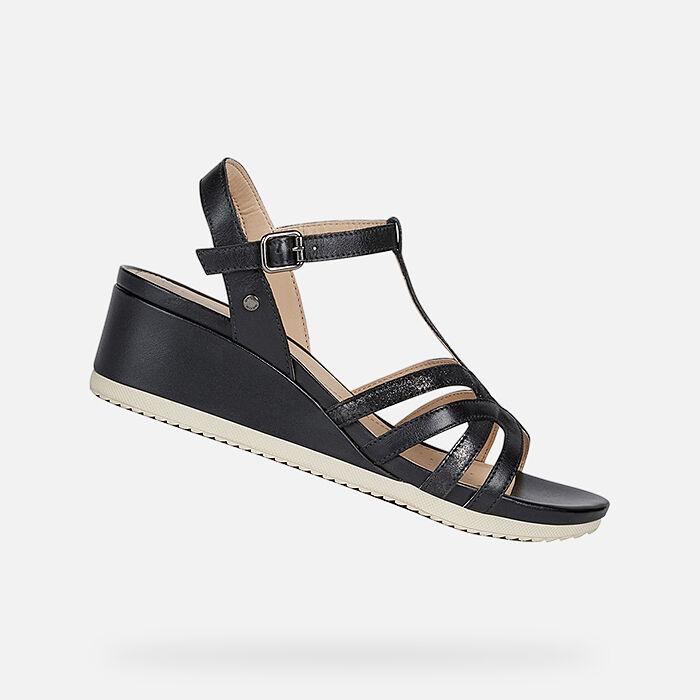 Damen Sandalen, mit Absatz oder Plateausohle | Geox