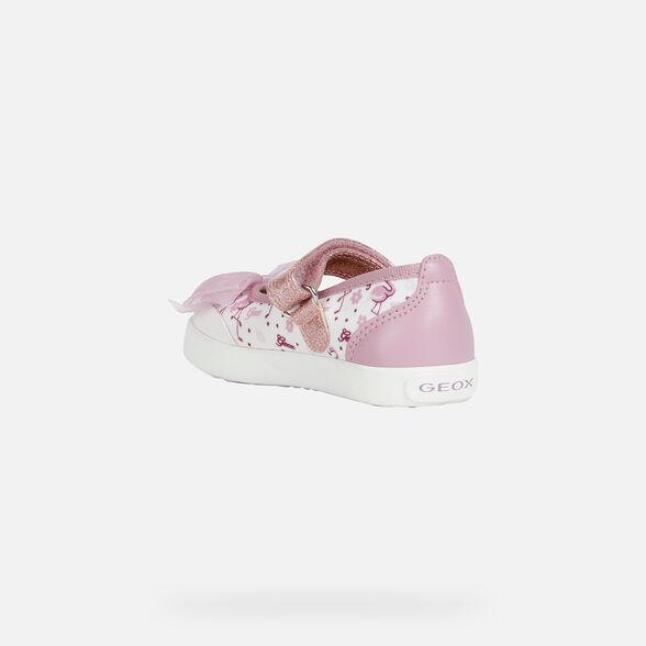 BALLERINAS BABY GEOX KILWI BABY GIRL - WHITE AND DARK PINK