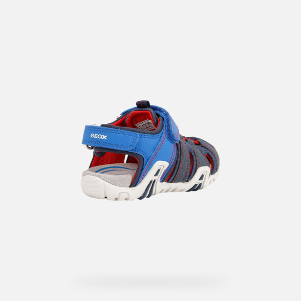 SANDALS BABY GEOX KRAZE BABY BOY - ROYAL AND RED