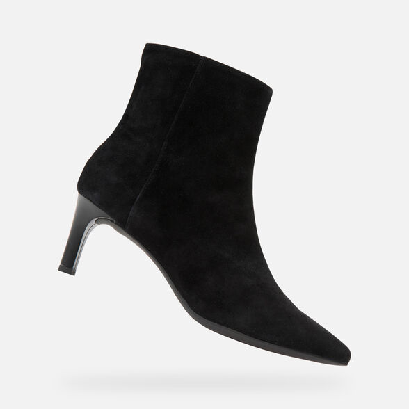 HEELED ANKLE BOOTS WOMAN GEOX BIBBIANA WOMAN - 1