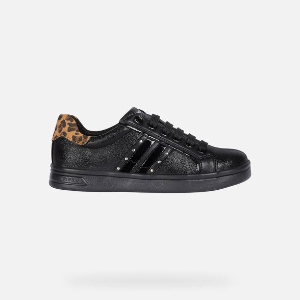 klassischer Chic suche nach dem besten bieten eine große Auswahl an Geox DJROCK Junior Girl: Black Sneakers | Geox Fall Winter