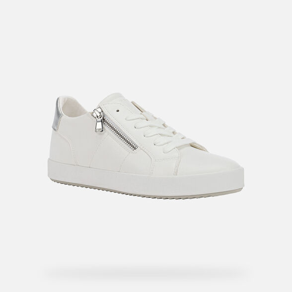 bulto Hacer Coherente  Geox BLOMIEE Woman: White Sneakers | Geox® Entry Price