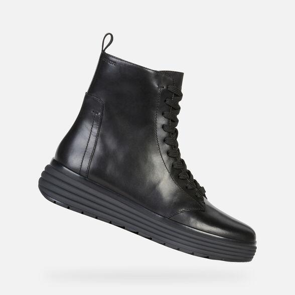 Inconveniencia Groenlandia Retirada  Geox PHAOLAE Woman: Black Ankle Boots | Geox Fall Winter