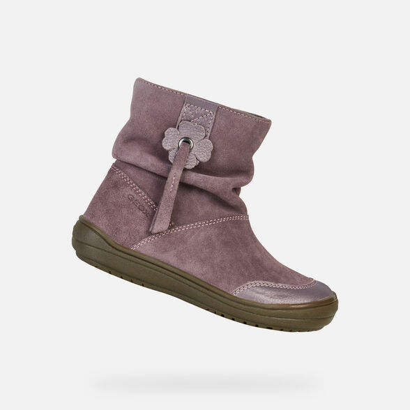 reputable site 42518 1d4a3 Geox HADRIEL Junior Girl: Light plum Ankle Boots   Geox Fall ...