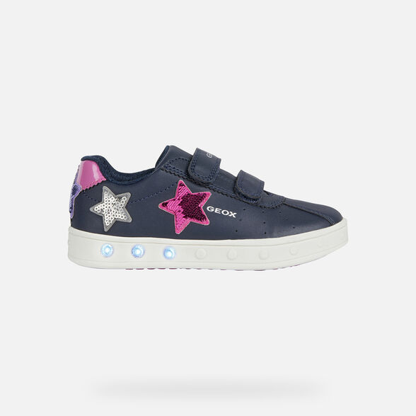 GIRL LIGHT-UP SHOES GEOX SKYLIN GIRL - 8