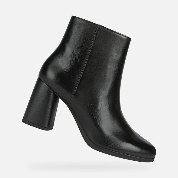 Minero Sucio dolor  Geox CALINDA HIGH Woman: Black Ankle Boots   FW20 Geox®