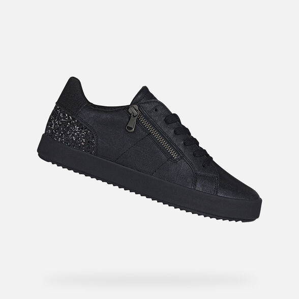 sufrimiento veneno hecho  Geox BLOMIEE Woman: Black Sneakers | Geox® Online