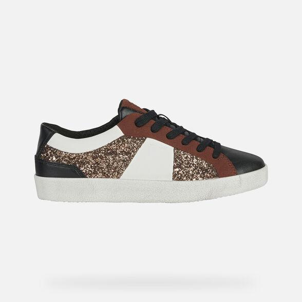 aves de corral Prisión Desfiladero  Geox WARLEY Woman: Black Sneakers   Geox® FW20/21