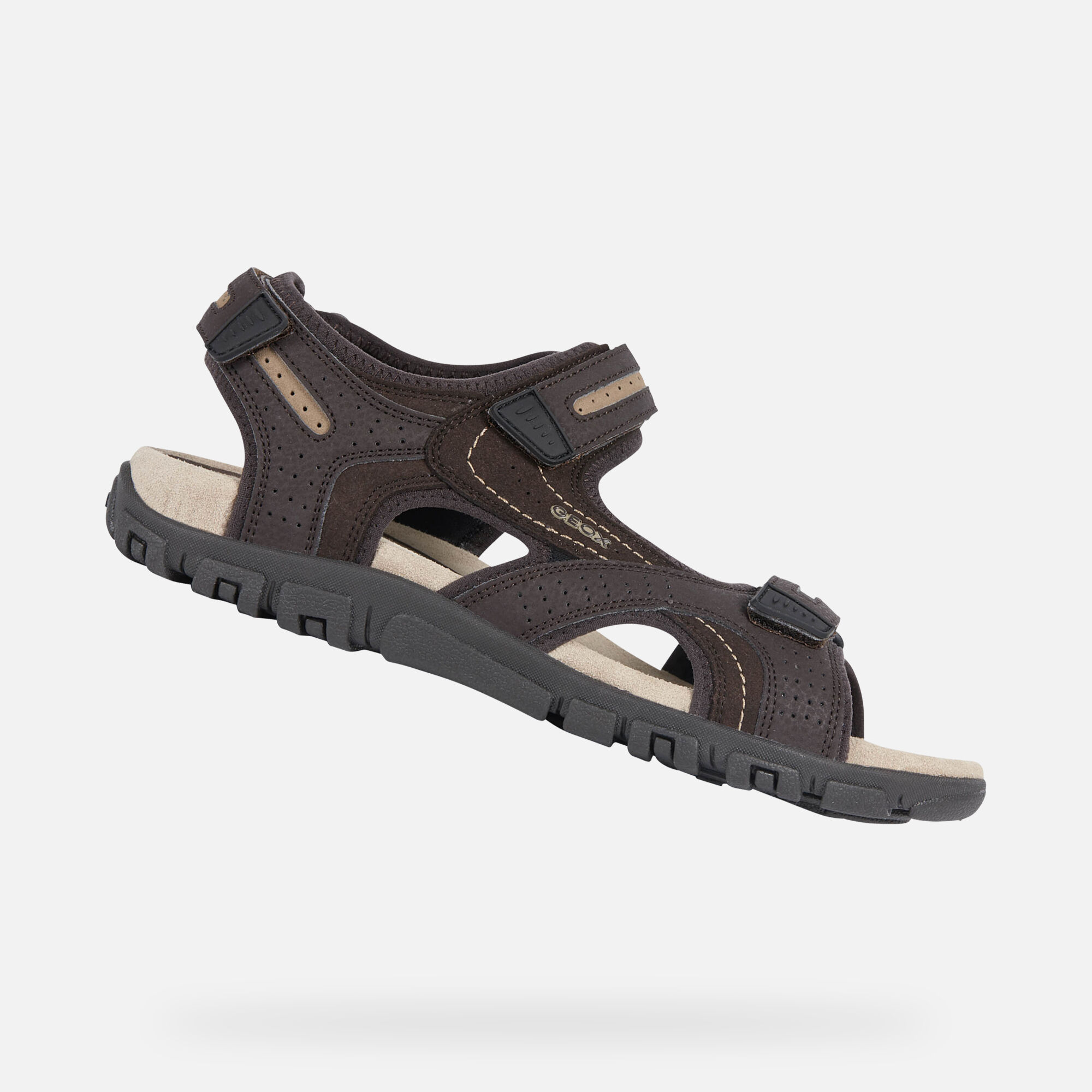 Geox STRADA Man: Brown Sandals | Geox