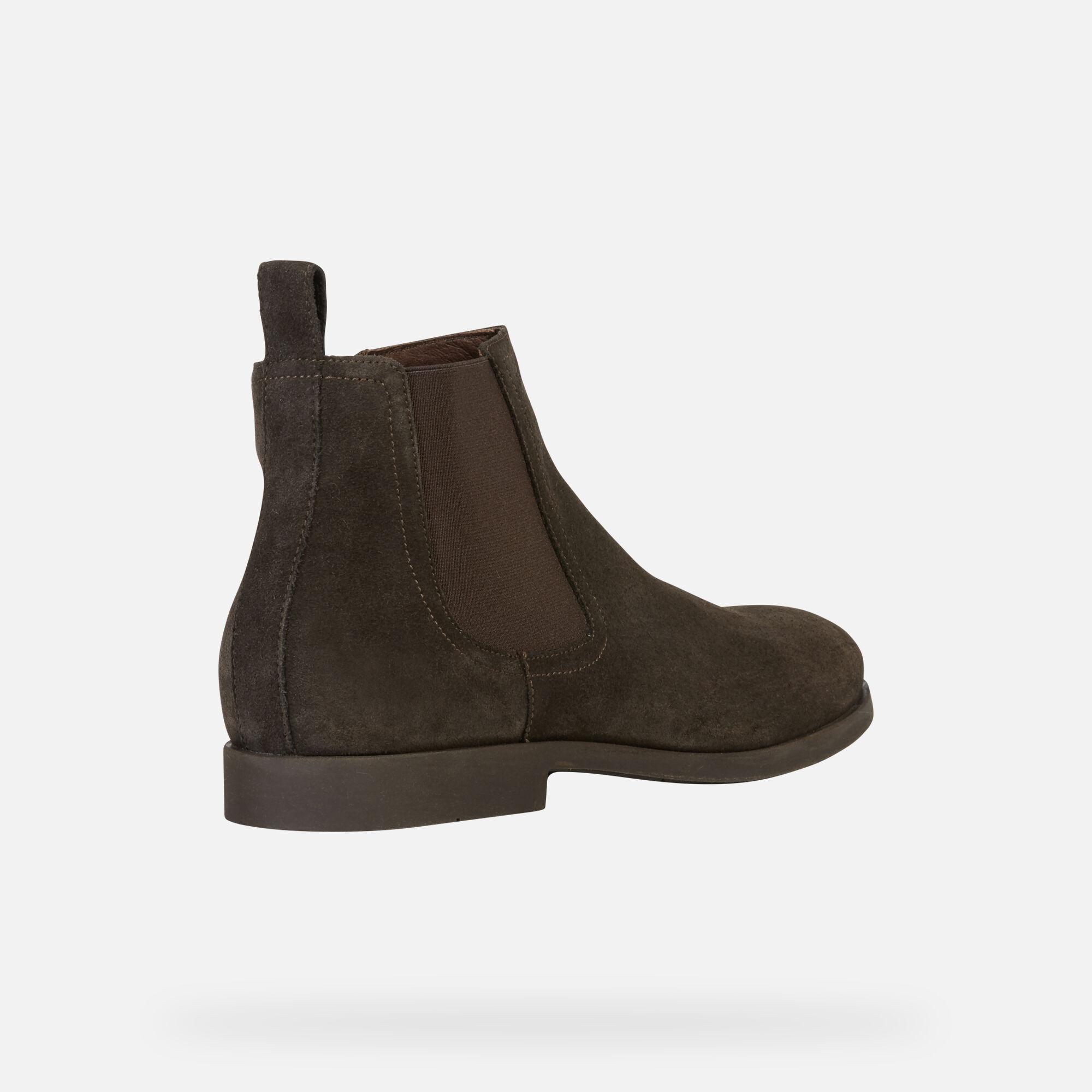 Geox KASPAR Man: Dark coffee Ankle Boots | Geox Fall Winter