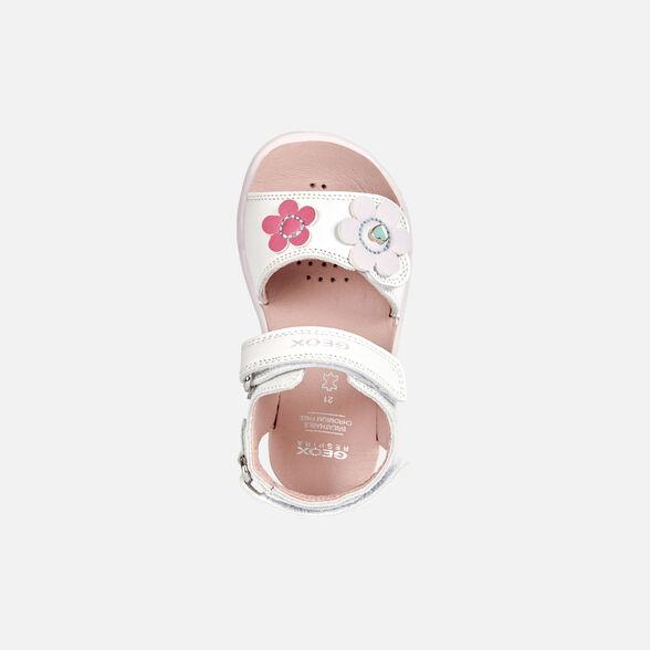 SANDALS BABY GEOX DELHI BABY GIRL - WHITE