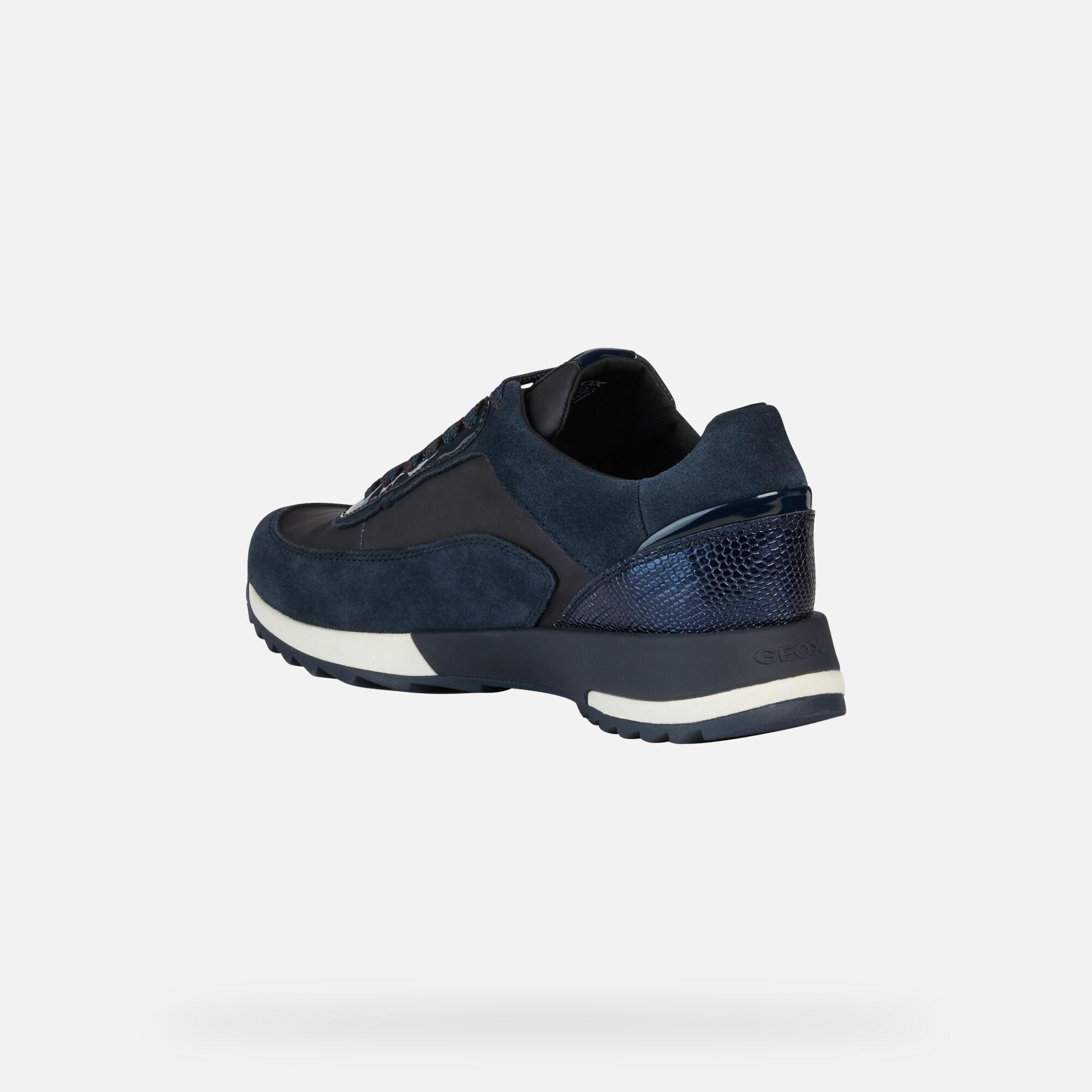 Geox ANEKO ABX Baskets Basses Bleues Femme | Geox® Boutique