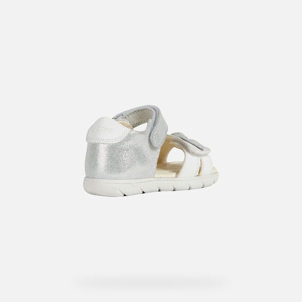 SANDALS BABY GEOX ALUL BABY GIRL - WHITE