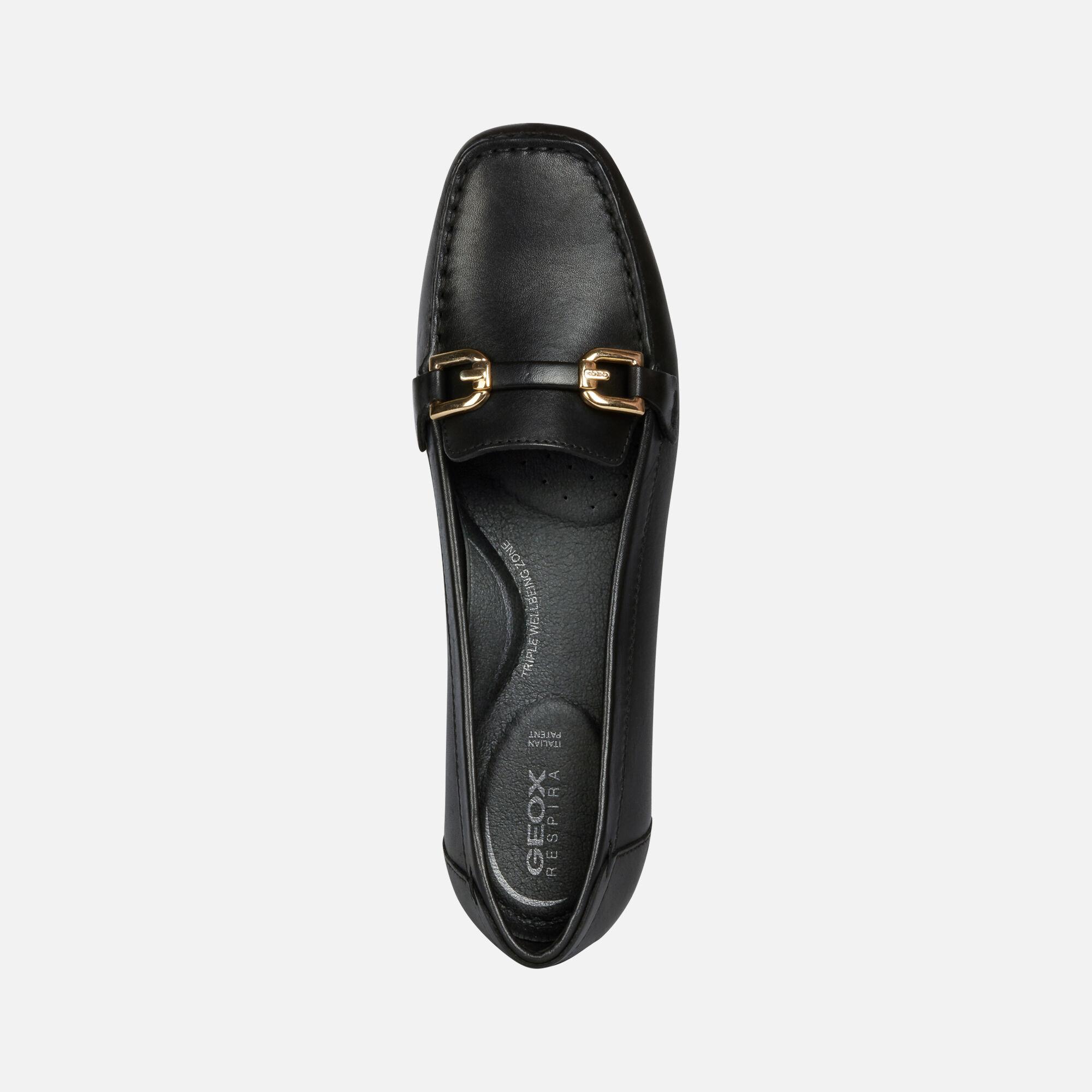 Geox ANNYTAH MOC Woman: Black Loafers