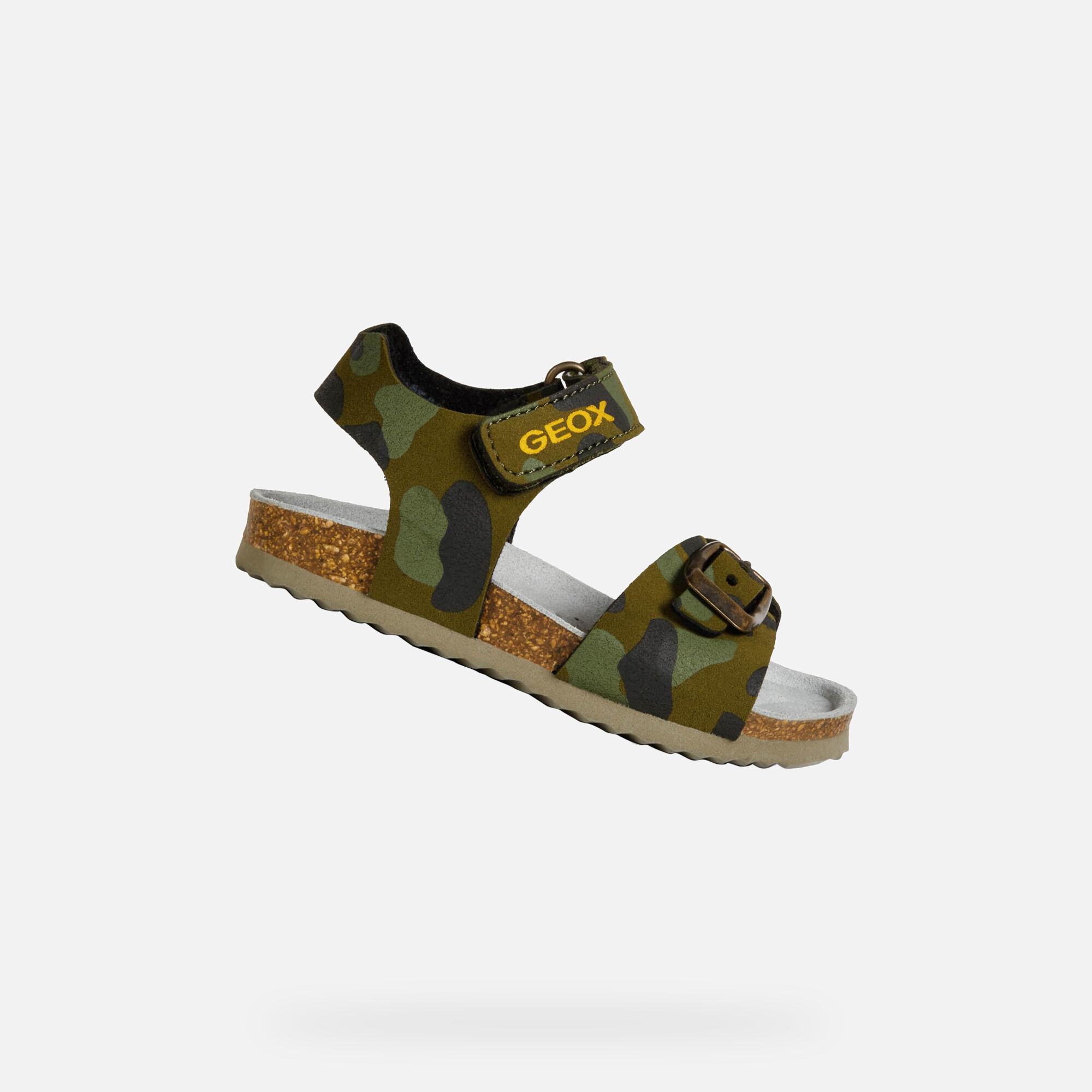 Geox CHALKI BABY Boy: Military Sandals