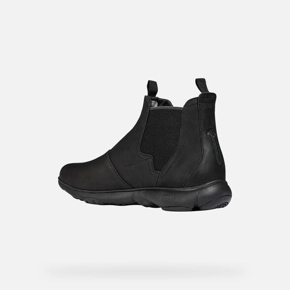 Intestinos intelectual Perth Blackborough  Geox NEBULA Man: Black Ankle Boots | Geox Fall Winter