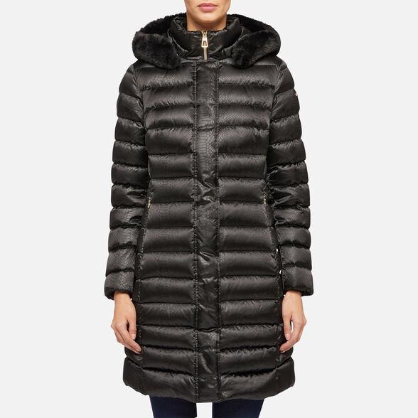 buy popular 25f46 24d42 GEOX BETTANIE Donna: Piumino Nero | GEOX Autunno-Inverno | Geox