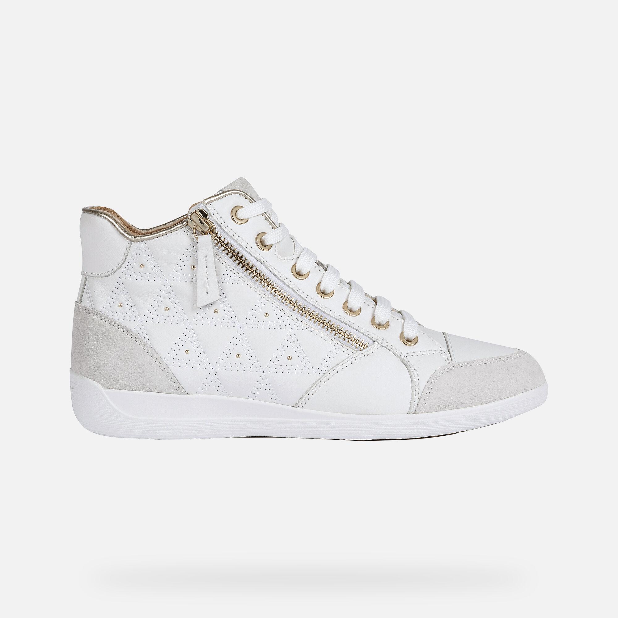 Geox MYRIA Woman: White Sneakers   Geox