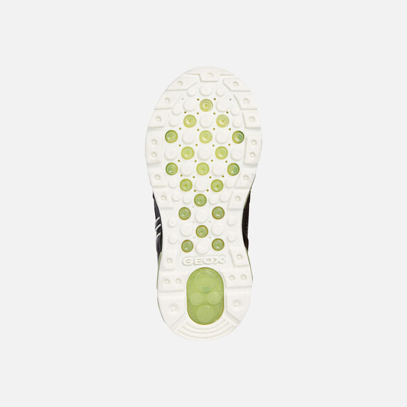 LIGHT-UP SHOES BOY GEOX ANDROID BOY - DARK GREY AND LIME