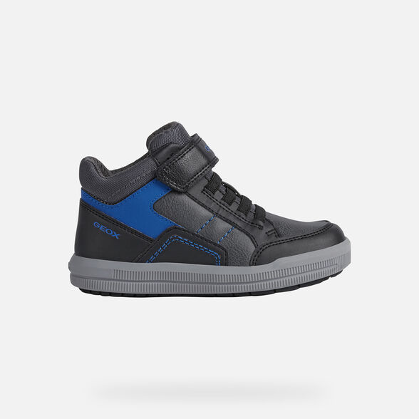 SNEAKERS BOY GEOX ARZACH BOY - BLACK AND ROYAL