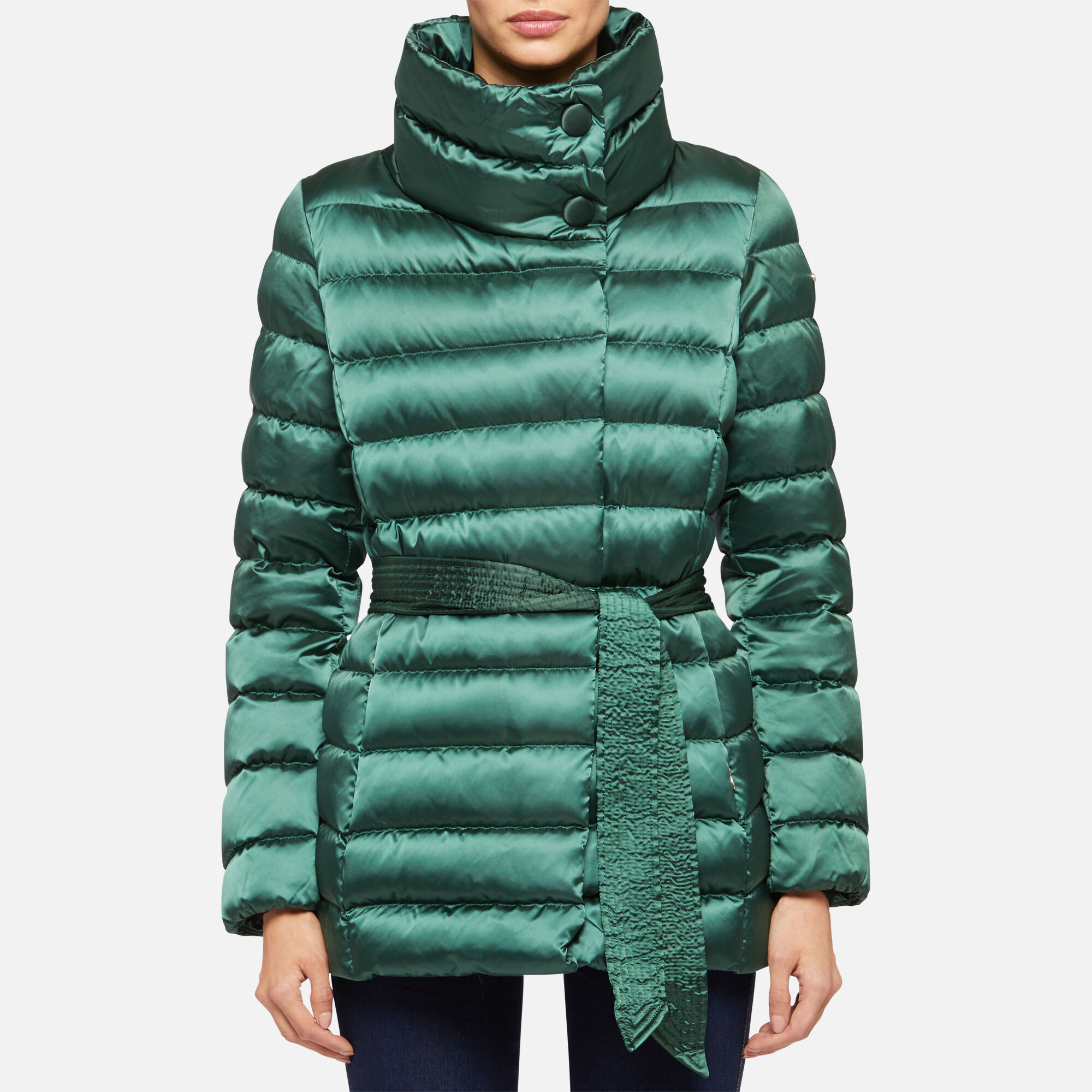 Geox Women's W CHLOO Green Down Jacket | Geox¨ Official Store