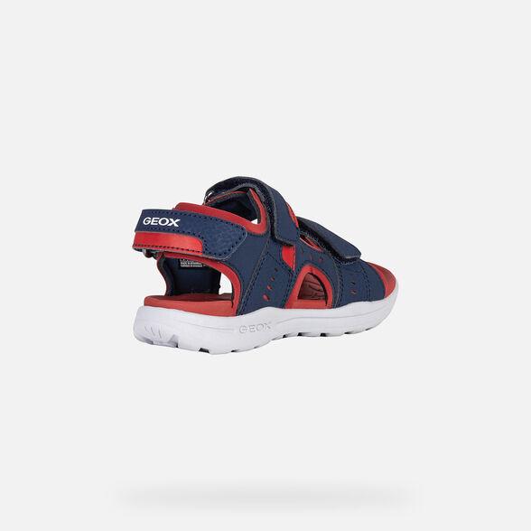 Details about  /Geox J Vaniett B Royal//Green Durabuck Child Fisherman Sandals