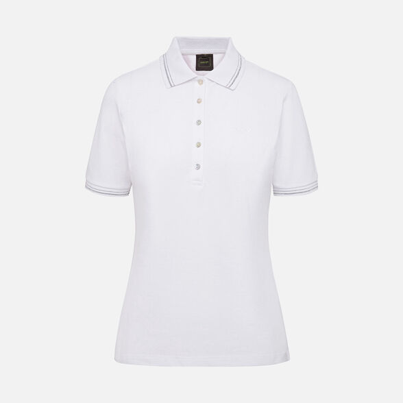 T-SHIRTS WOMAN GEOX SUSTAINABLE WOMAN - OPTICAL WHITE