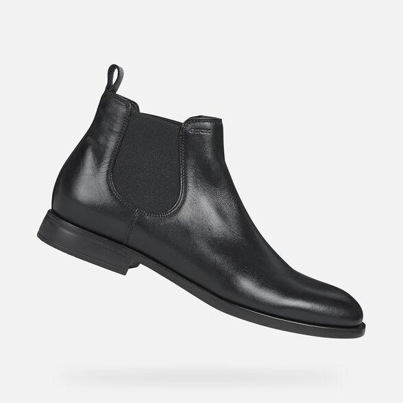 Señora Encommium Estructuralmente  Geox DOMENICO Man: Black Ankle Boots | Geox® FW20/21