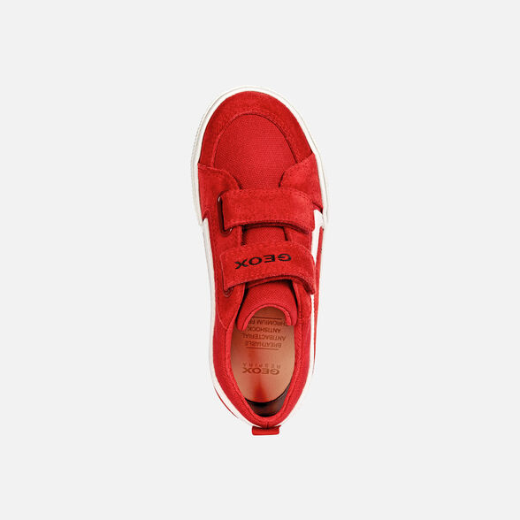 SNEAKERS BOY GEOX ALONISSO BOY - RED AND WHITE
