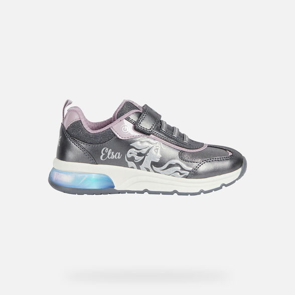 FROZEN GIRL GEOX SPACECLUB GIRL - DARK SILVER AND LILAC