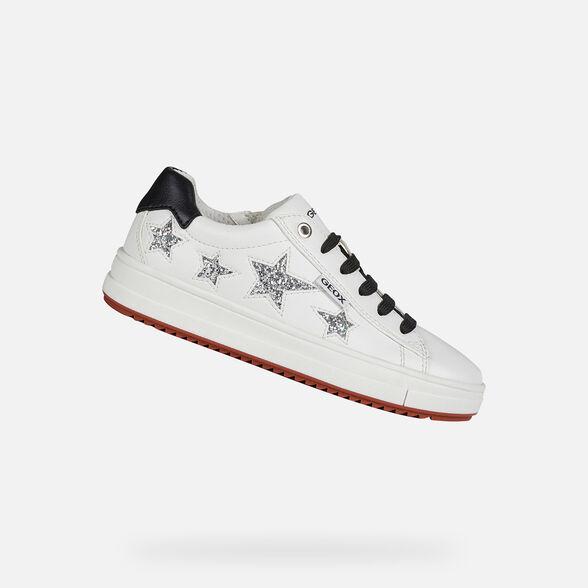 Geox REBECCA GIRL Junior Girl: White Sneakers | FW20 Geox®