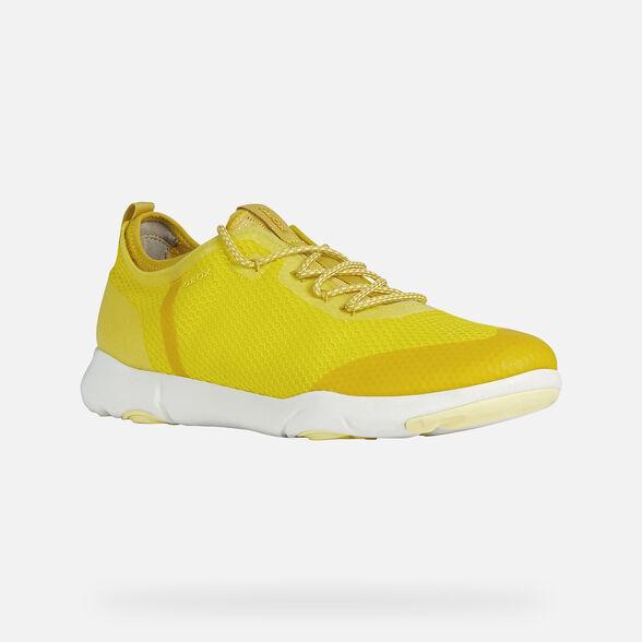 fecha de lanzamiento: ahorrar gama completa de especificaciones Geox NEBULA X Man: Lt Yellow Sneakers | Geox ® Official Store