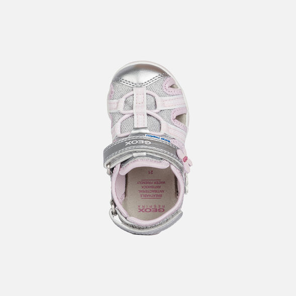 Categoria nascosta per master products Site Catalog GEOX AGASIM BABY GIRL - SILVER AND PINK