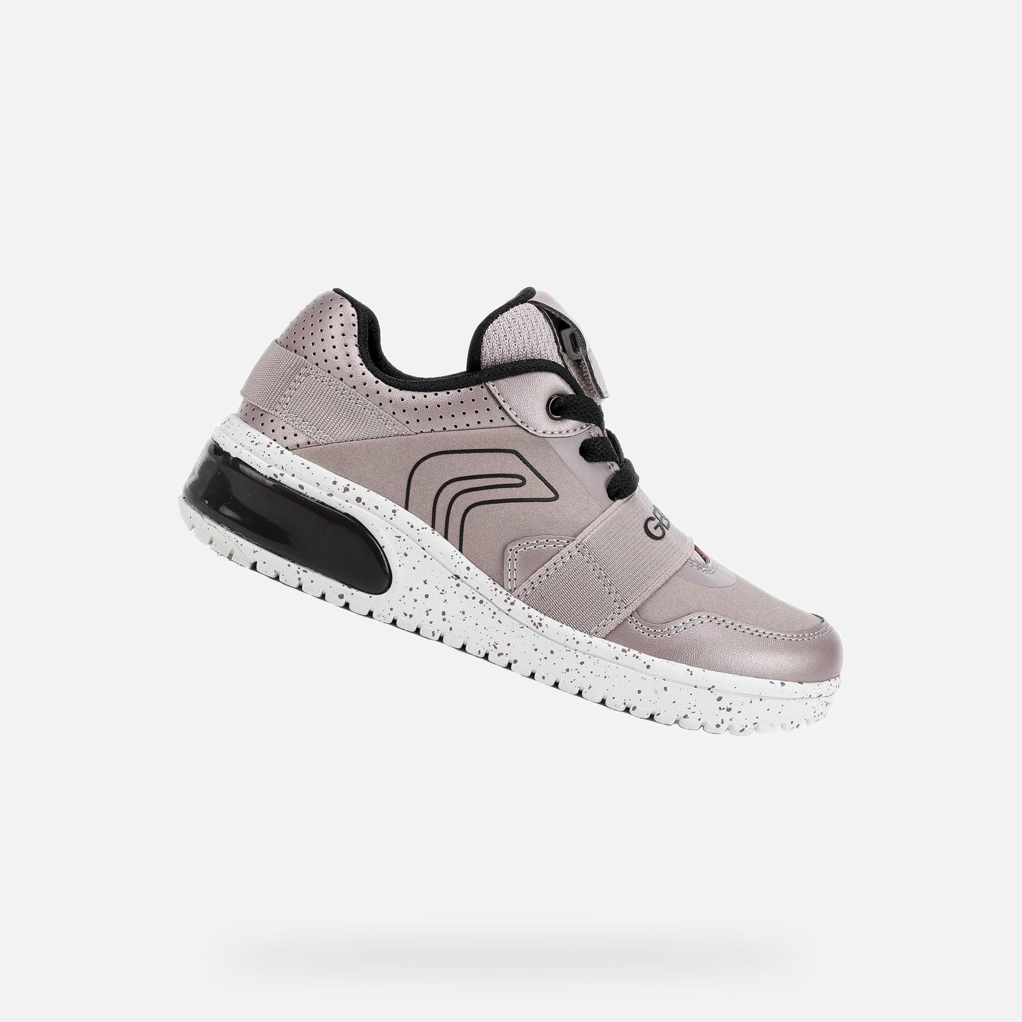 Geox XLED Junior Girl: Pink Sneakers   Geox Fall Winter