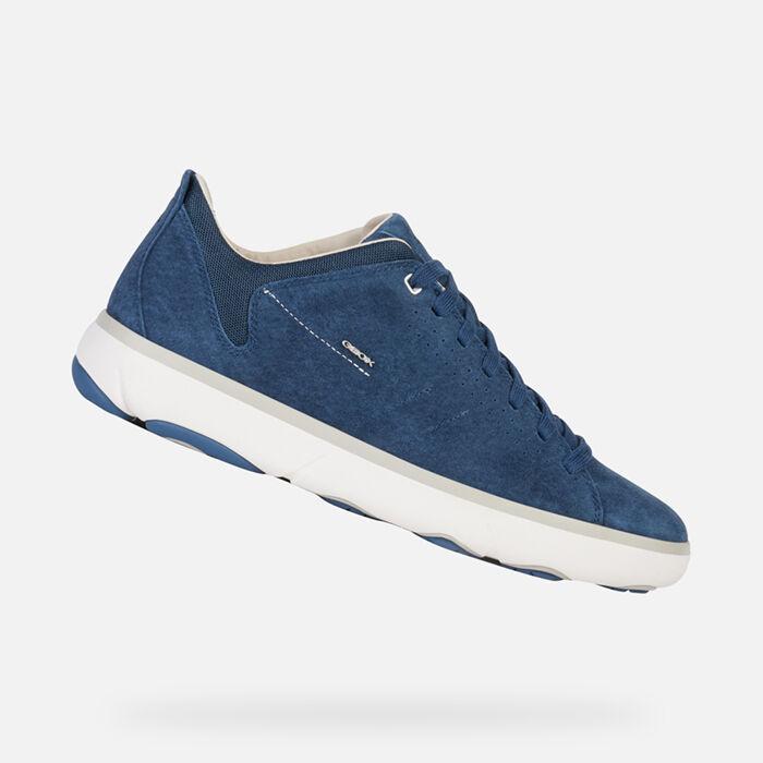 geox scarpe nebula, uomo sneakers geox box grigio nero